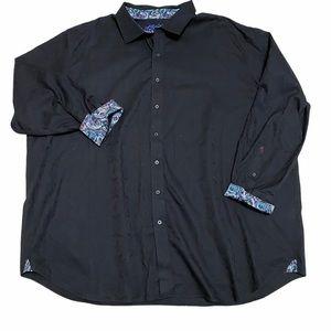 Robert Graham Floral Long Sleeve Shirt Black